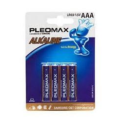 PILA ALCALINA PLEOMAX SAMSUNG LR03 1,5V / BLISTER 4 UDS / LRS03B